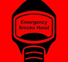 Smoke Hood (or Emergency Escape Mask or Gas Mask) Sign by Egress Group Pty Ltd