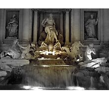 Trevi Fountain Rome at night Photographic Print