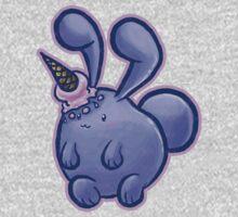 Purple Icecream Bunny Baby Tee