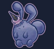 Purple Icecream Bunny Kids Tee