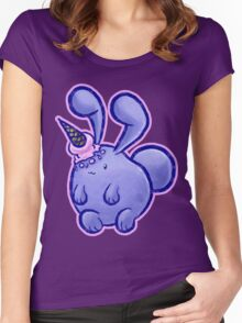 Purple Icecream Bunny Women's Fitted Scoop T-Shirt