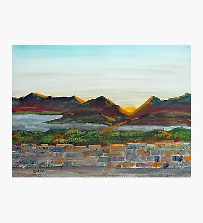 Hill Country Sunset Photographic Print
