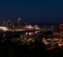 Cincinnati at Night by Jeanne Sheridan