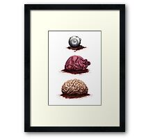Eye Heart Brains Framed Print