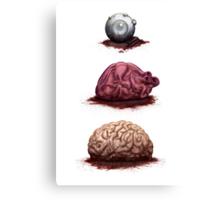 Eye Heart Brains Canvas Print