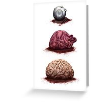 Eye Heart Brains Greeting Card
