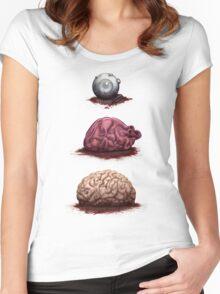 Eye Heart Brains Women's Fitted Scoop T-Shirt