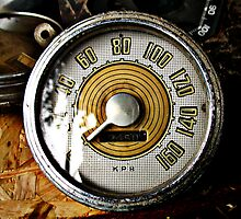 Vintage automobile speed gauge by htrdesigns