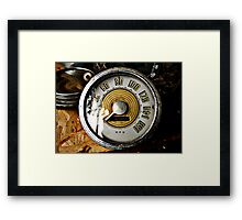 Vintage automobile speed gauge Framed Print