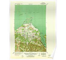 USGS Topo Map Washington State WA Dungeness 240900 1939 62500 Poster