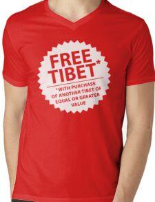 Free Tibet* Mens V-Neck T-Shirt