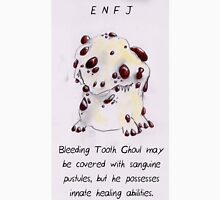 MBTI GHOSTS AND GHOULS- ENFJ BLEEDING TOOTH MUSHROOM MONSTER Unisex T-Shirt