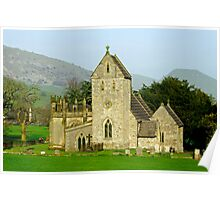 The Church of the Holy Cross, Ilam  Poster