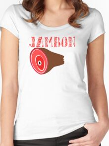 JAMBON! Women's Fitted Scoop T-Shirt