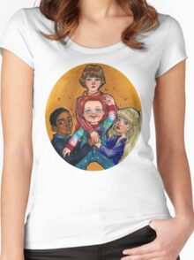 THEIR FRIEND TO THE END Women's Fitted Scoop T-Shirt