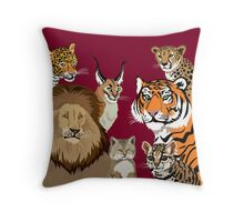 I Am Thankful For Felidae Throw Pillow