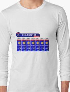 Philadelphia Weather Report Long Sleeve T-Shirt