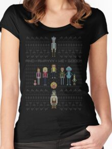 Rick and Morty Family Portrait Women's Fitted Scoop T-Shirt