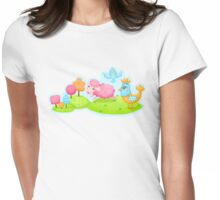 Happy Farm Womens Fitted T-Shirt