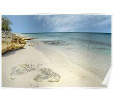 """Love Beach"" in Western Nassau, The Bahamas Poster"