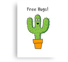 Free Hugs Cactus  Canvas Print