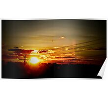 Warm Sunset Poster