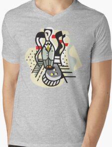 Bowling Abstract Mens V-Neck T-Shirt
