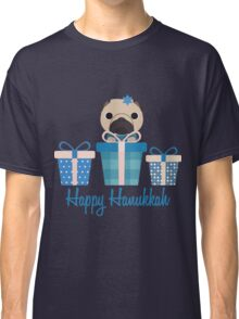 Happy Hanukkah Pug  Classic T-Shirt