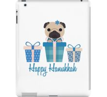 Happy Hanukkah Pug  iPad Case/Skin