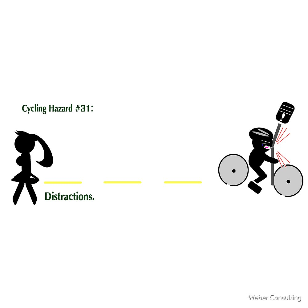 Cycling hazard - Distractions by Weber Consulting