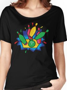 Bowling Abstract Women's Relaxed Fit T-Shirt