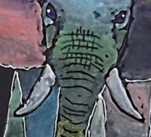 'Colourful Elephant' Sticker