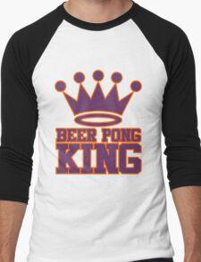 Beer Pong King Men's Baseball ¾ T-Shirt