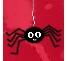 ITSY BITSY SPIDER - RED Photographic Print