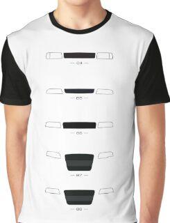 German Sedans (B8, B7, B6, B5, 4C) simple front end design Graphic T-Shirt