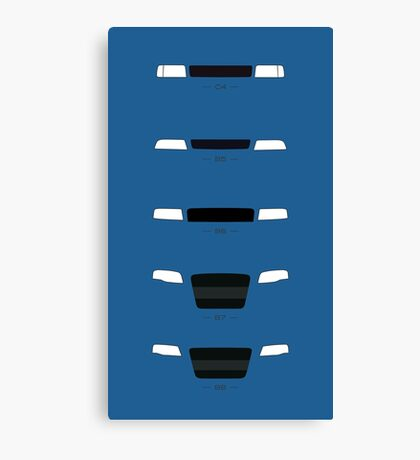 German Sedans (B8, B7, B6, B5, 4C) simple front end design Canvas Print