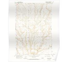 USGS Topo Map Washington State WA Lenzie Ranch 241978 1965 24000 Poster