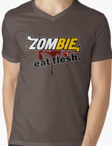 Zombie - Eat Flesh Mens V-Neck T-Shirt