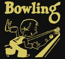 Bowling Vintage Dark Kids Clothes