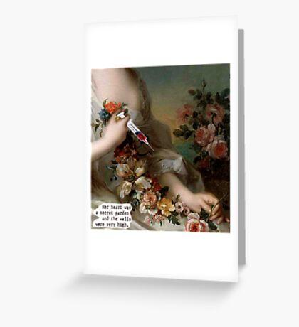 her secret garden Greeting Card