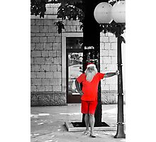 Man In Red Photographic Print