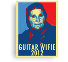Guitar Wifie for President 2012 Canvas Print