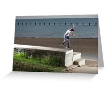 Mikey Taylor - Sw 180 Nosegrind - Photo: Sam McGuire Greeting Card