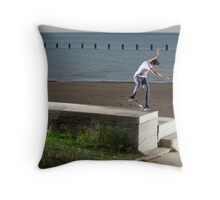 Mikey Taylor - Sw 180 Nosegrind - Photo: Sam McGuire Throw Pillow