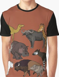 I Am Thankful For Even-Toed Ungulates Graphic T-Shirt