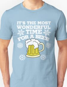 It's the most wonderful time for a beer christmas party T-Shirt