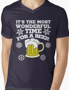 It's the most wonderful time for a beer christmas party Mens V-Neck T-Shirt