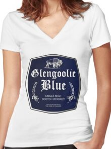 Glengoolie Blue Women's Fitted V-Neck T-Shirt