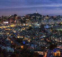 Seoul Panorama Night by aaronchoi