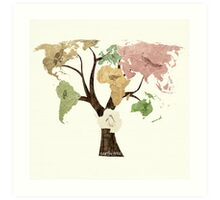 Earth Tree (Birds) Art Print